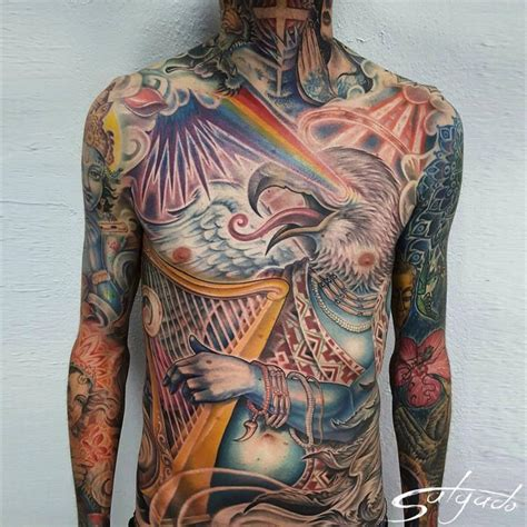 red eagle angel by juan salgado tattoonow