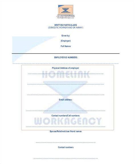 nanny contract template 9 nanny contract templates free sle exle format