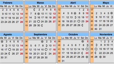 Calendario Lunar 2017 España Calendario Lunar 2017 Espa 241 A Blanco Plantillas Imprimibles