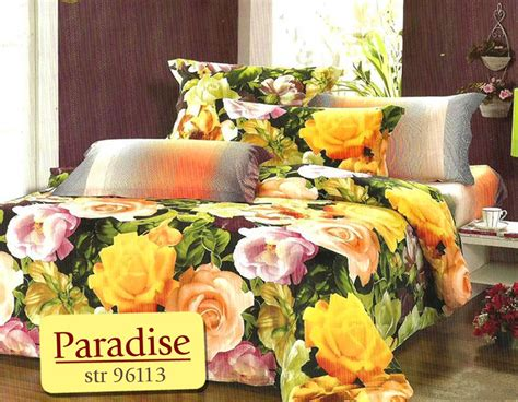 Bed Cover Katun Jepang Uk 180 160 bed cover set paradise uk 180 t 25cm warungsprei