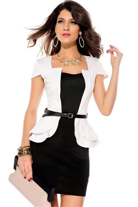 I New Peplum Desire In White cap sleeves peplum dress white black pink blue summer brief work mini dresses 2015 new