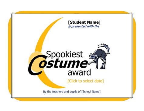 costume certificate template best costume certificate template word documents