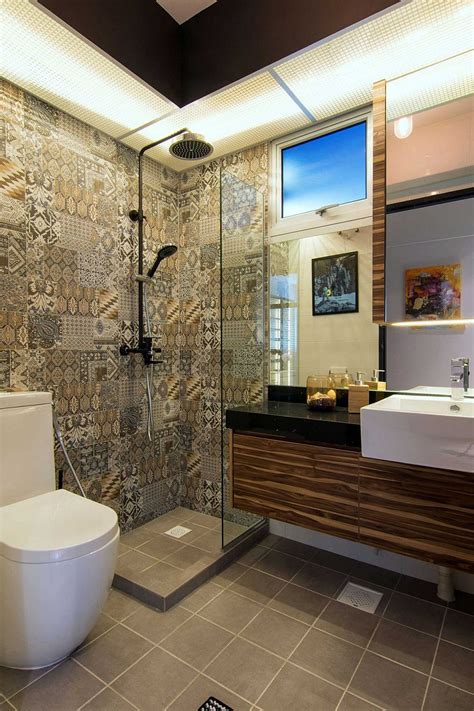 bathroom floor tiles singapore home in singapore space savvy interior laced with
