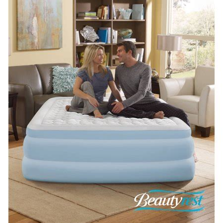 simmons beautyrest contour aire 18 quot raised air bed mattress with built in walmart