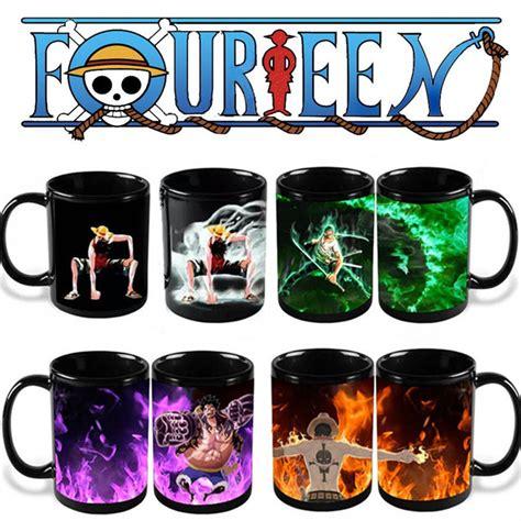 Milk Cup Anime aliexpress buy anime coffee mug one color change cup luffy zoro ace printed