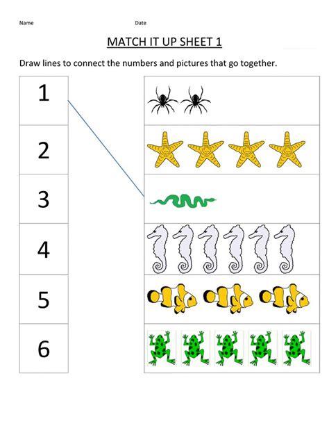 free printable matching worksheets for kindergarten k5