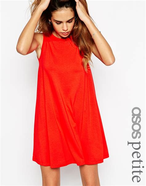 swing dress lyst asos sleeveless swing dress in