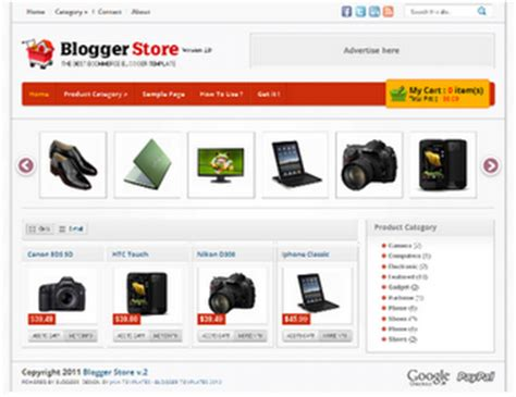 blogger template ecommerce blogger ecommerce store gallery template 2012 free