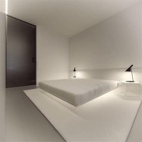 simple white bedroom stark sharp minimalistic interiors deezner