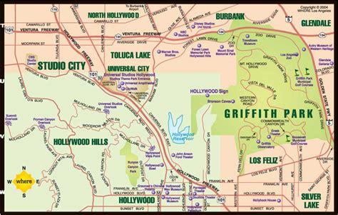 griffith park map city tour