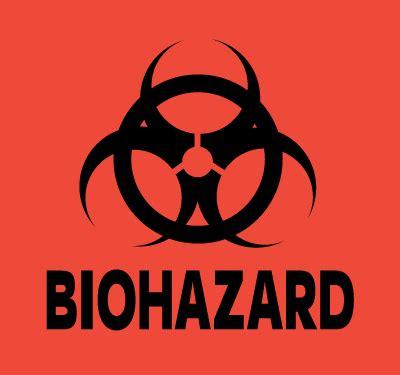 Biohazard 01 Sticker 3 pack 2 inch dot sticker neon orange biohazard c b gitty crafter supply