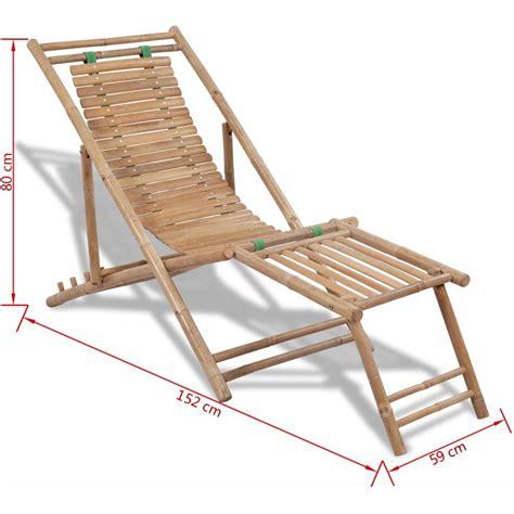 sedie per terrazzo articoli per sedia da terrazzo in bamb 249 con poggiapiedi