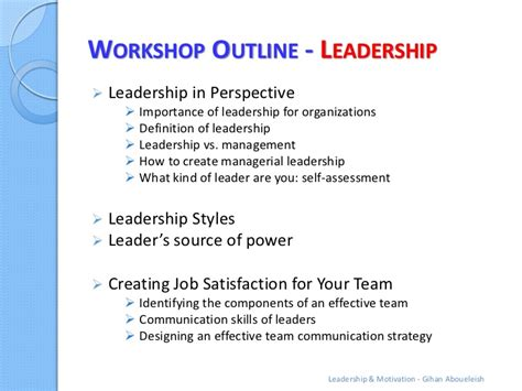Outline 6 Virtues Of Leadership by Leadership Motivation Workshop