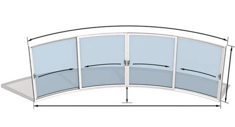 Curved Glass Doors Curved Glass Doors Model W4 Curved Sliding Doors Curved Patio Doors