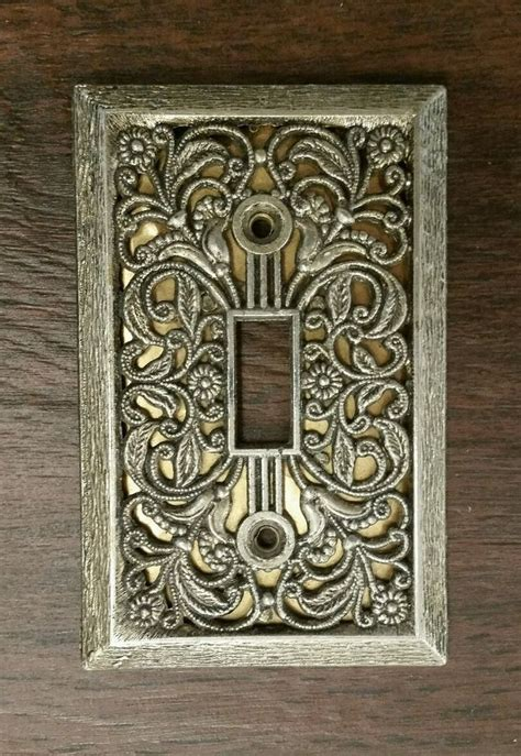 vintage light switch plate covers vintage antique brass switch plate cover excellent