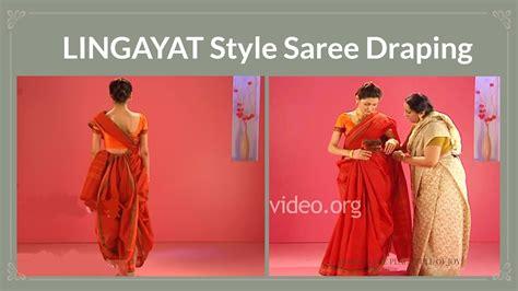 how to make saree draping tutorial for saree wearing styles lingayat style sree