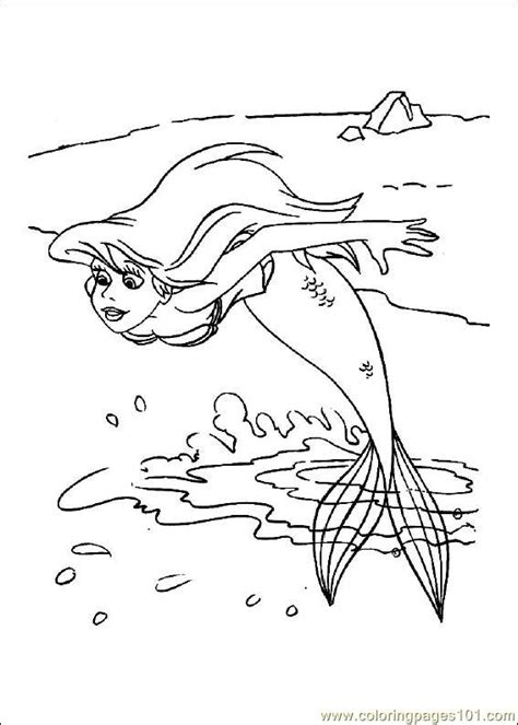 little mermaid swimming coloring pages coloring pages little mermaid cartoons gt the little