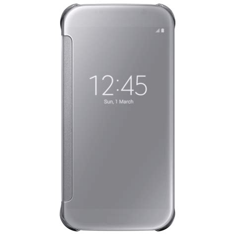 Clear Covers by Samsung Clear View Cover For Samsung Galaxy S6 Silver