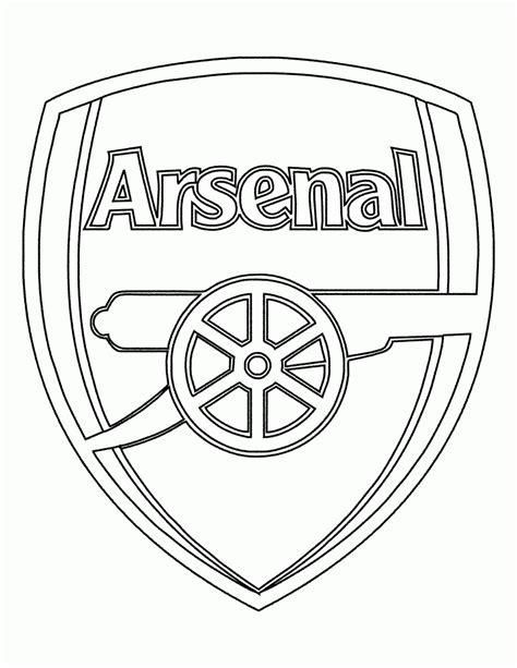 mewarnai gambar logo klub arsenal contoh anak paud