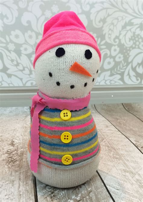 sock snowman family crafts