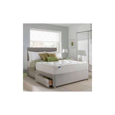 Grey Fabric Bed With Mattress Grey Fabric Bed Set With Ortho Memory Foam Mattress