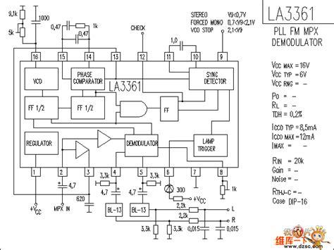 La3361 La 3361 La3361 Audio Ic Circuit Audio Circuit Circuit Diagram