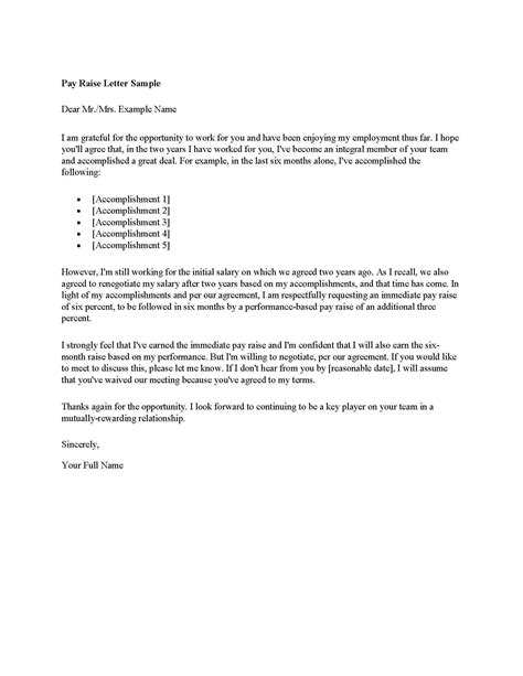merit increase letter template inspiration letter