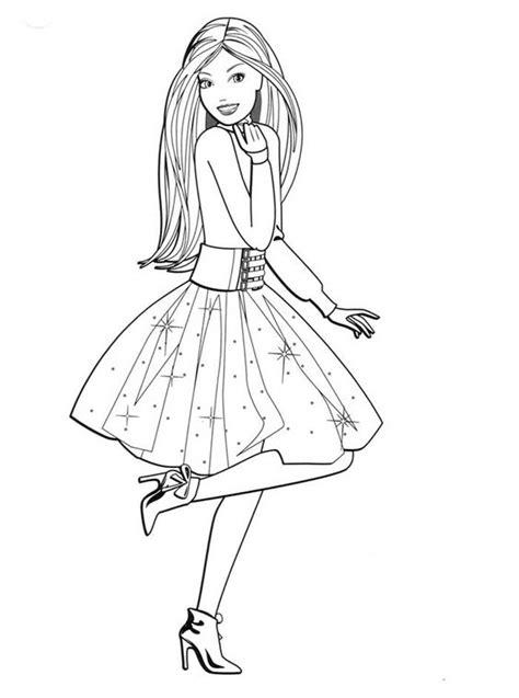 Gambar Mewarnai Barbie – Pintar Mewarnai