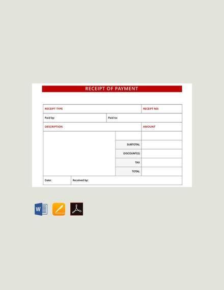 ticket receipt template 8 payment receipt formats pdf word