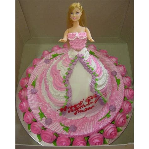 doll design birthday cake oc0260 pink doll birthday cake pictures