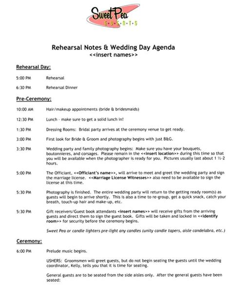5 Best Images Of Wedding Reception Program Sle Wedding Reception Program Ideas Wedding Sle Wedding Day Itinerary Template