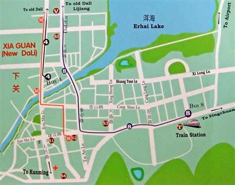 map city of dali city map dali city china mappery