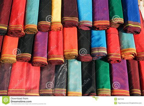 Handmade Textile - handmade textile for traditional dress stock photo