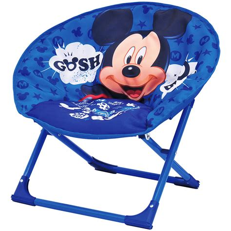 mickey mouse chair folding cing fold up seat moon