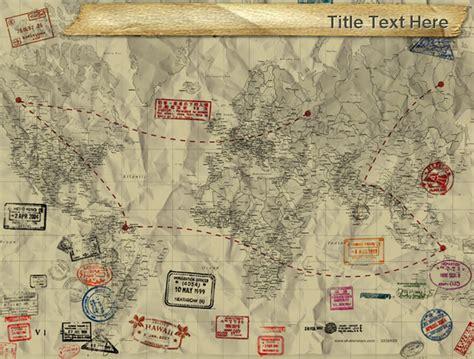 travel themed powerpoint template 古老的历史地图背景模板 ppt背景 ppt模板下载 资料库
