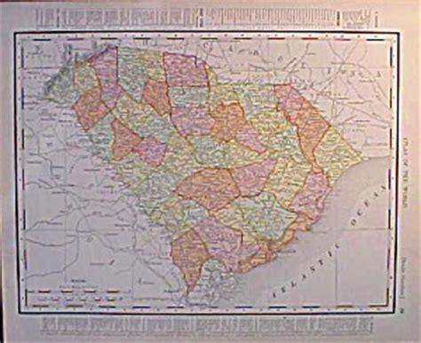 antique map georgia south carolina  rand mcnally