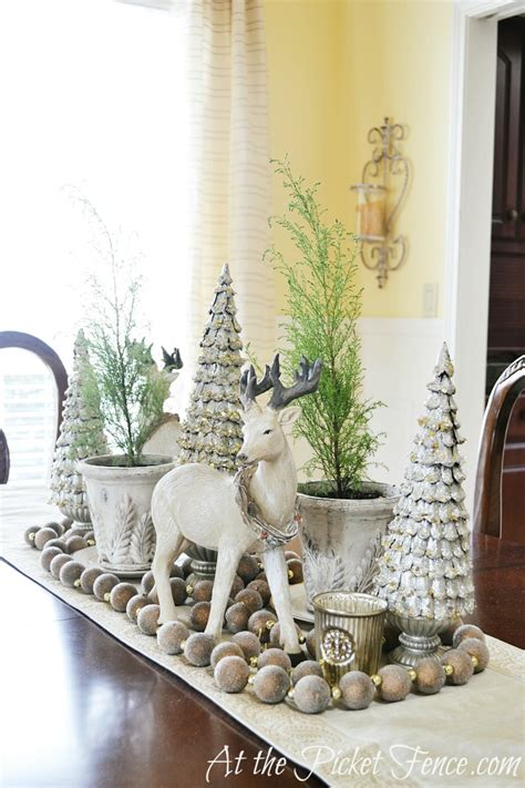 Dining Room Table Decor For Winter Simple Winter Decorating Ideas At The Picket Fence
