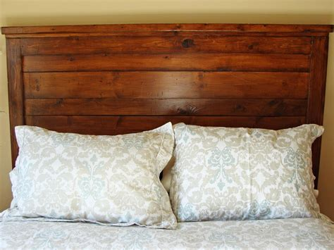 rustic wood headboard rustic yet chic wood headboard hgtv
