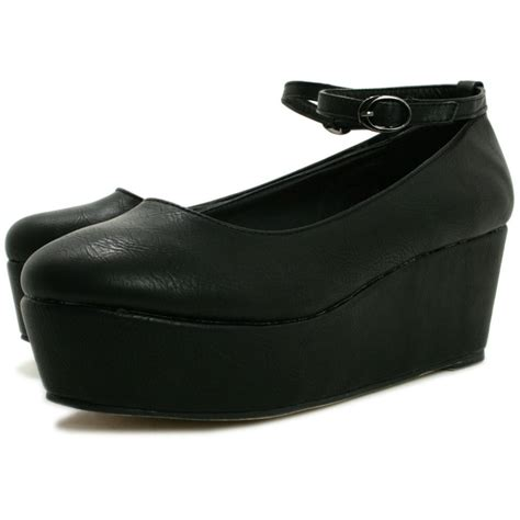 black leather style flatform shoes buy black leather