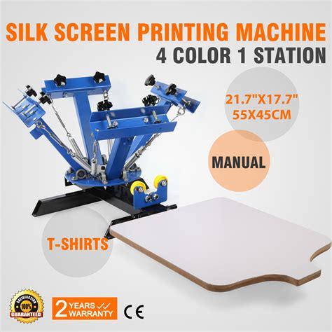 how to screen print 1 color bench press diy stand doovi 4 color screen printing press machine silk screening