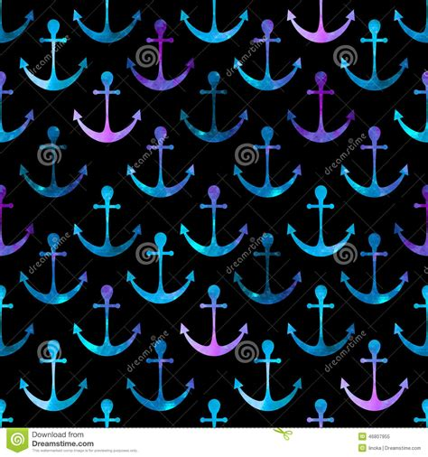 colorful anchor wallpaper anchor seamless background stock vector image 46807955
