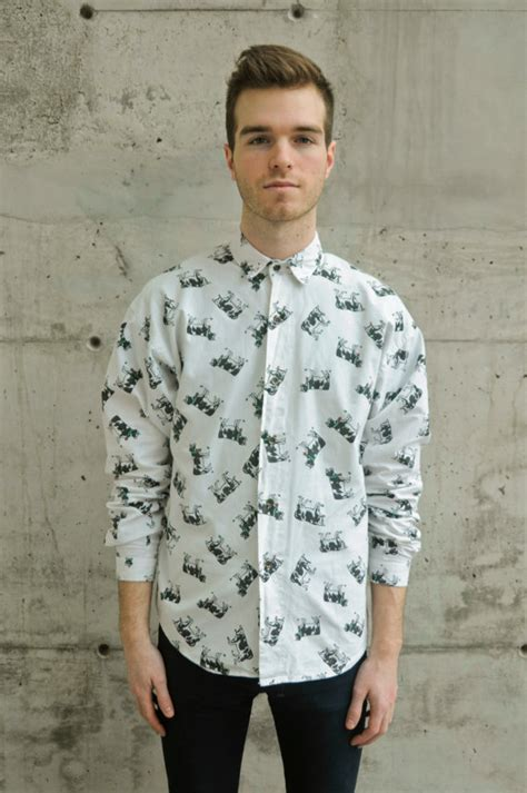 pattern button shirt cow pattern button up shirt vintage funny blouse country