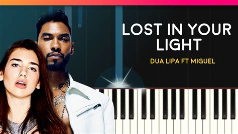 dua lipa lost in your light chord dua lipa quot lost in your light quot ft miguel piano tutorial