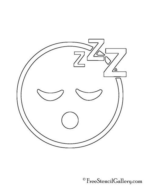 printable pumpkin stencils emoji emoji sleeping stencil free stencil gallery