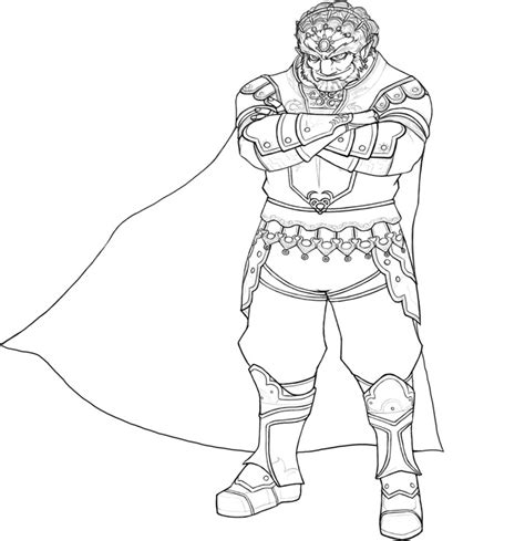 Ganondorf Lineart By Nalikatti On Deviantart Coloring Page Of Legend Of Ocarina Of Time