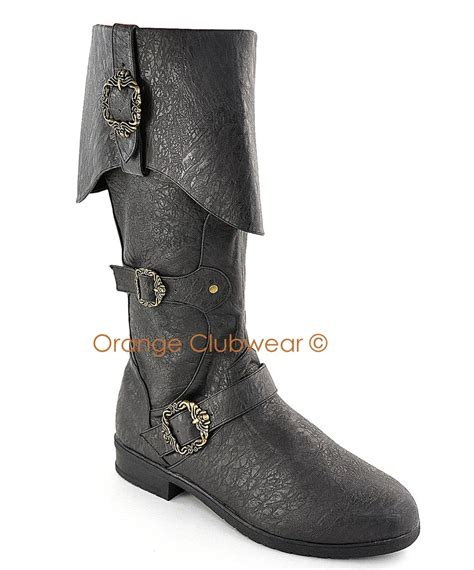 pirate boots pleaser mens carribean pirate costume boots