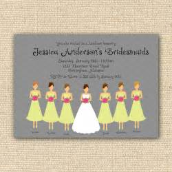 invitations for bridesmaids luncheon wording bridesmaids luncheon invitation bridal brunch diy