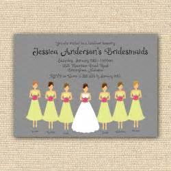 invitations for bridal luncheon bridesmaids luncheon invitation bridal brunch diy