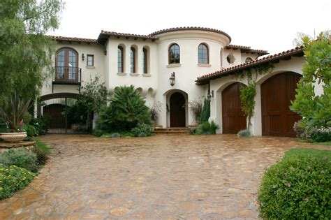 spanish style home red hot classical beautiful organic shaped home has
