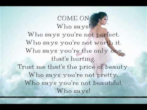The Says by Who Says By Selena Gomez The Lyrics